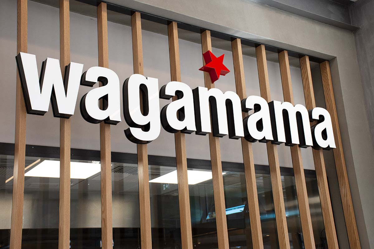 Wagamama custom signage